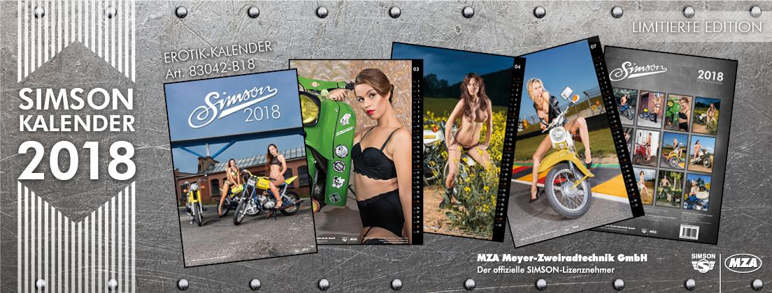 Simson Erotik Kalender 2018